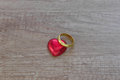 A valentine decoration with chocolate and others Royalty Free Stock Photo