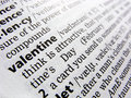 Valentine in dictionary Royalty Free Stock Photography