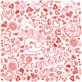 Valentine Doodle Royalty Free Stock Photos