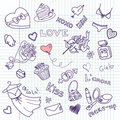 Valentine Doodles Stock Photography