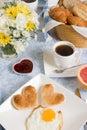 Valentine eggs Stock Photography