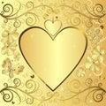 Valentine elegant golden background Stock Photos
