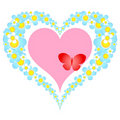 Valentine floral heart Stock Photo