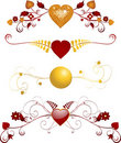 Valentine Florals Royalty Free Stock Images
