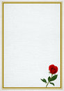 Valentine frame with rose Royalty Free Stock Photo