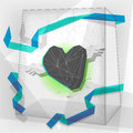 Valentine geometric heart Royalty Free Stock Photo