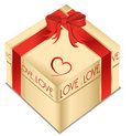Valentine gift box Royalty Free Stock Photos