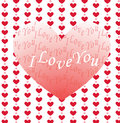 Valentine  greeting card Stock Photos