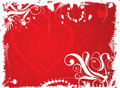 Valentine grunge background, vector Stock Image