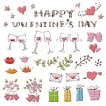 Valentine hand drawing illustration elements Royalty Free Stock Photo