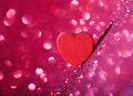 Valentine Heart on Abstract Background Royalty Free Stock Photo