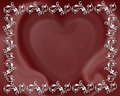 Valentine heart abstract border Stock Image