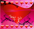 Valentine Heart Background Stock Photography