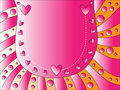 Valentine heart background Royalty Free Stock Photo