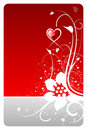 Valentine heart floral card Royalty Free Stock Photo
