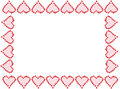 Valentine heart frame or border Stock Images