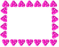 Valentine heart frame or border Royalty Free Stock Photo