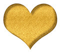 Valentine heart gold cute Royalty Free Stock Photography