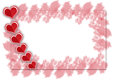 Valentine heart hearts valentines day card on white background Royalty Free Stock Image
