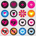 Valentine heart icon simple / jpg + vector Royalty Free Stock Photos