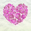 Valentine heart made from roses Stock Photography
