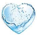 Valentine heart made of water splash Royalty Free Stock Photo