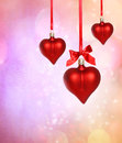 Valentine Heart Ornaments Stock Images