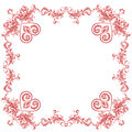 Valentine heart ornaments decorative frame greeting and floral vintage valentines day vector illustration Stock Image