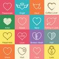 Valentine heart outline design