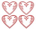 Valentine heart, pictogram, set Royalty Free Stock Images