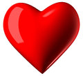 Valentine heart red shiney Stock Photo