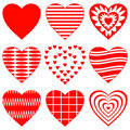 Valentine heart, set Stock Images