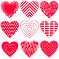 Valentine heart, set Royalty Free Stock Images