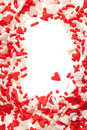 Valentine heart sprinkles Royalty Free Stock Photo