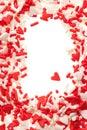 Valentine heart sprinkles Royalty Free Stock Photo