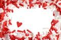 Valentine heart sprinkles Stock Images