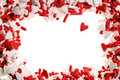 Valentine heart sprinkles Stock Images