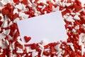 Valentine heart sprinkles Stock Photo