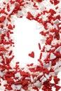 Valentine heart sprinkles Royalty Free Stock Photos