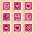 Valentine Heart Stamps