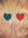 He and she Valentine hearts Royalty Free Stock Photography