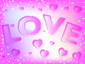 Valentine hearts background Immagini Stock