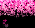 Valentine hearts background Fotos de Stock Royalty Free
