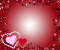 Valentine hearts background Stock Photos