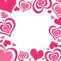 Valentine Hearts Border Royalty Free Stock Image
