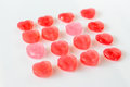 Valentine hearts candy isolate on white background3 Royalty Free Stock Photo