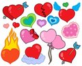 Valentine hearts collection 1 Royalty Free Stock Images