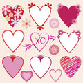 Valentine Hearts Collection Stock Image