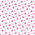 Valentine hearts with dots Stock Images