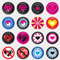 Valentine hearts gradient eps Royalty Free Stock Photos